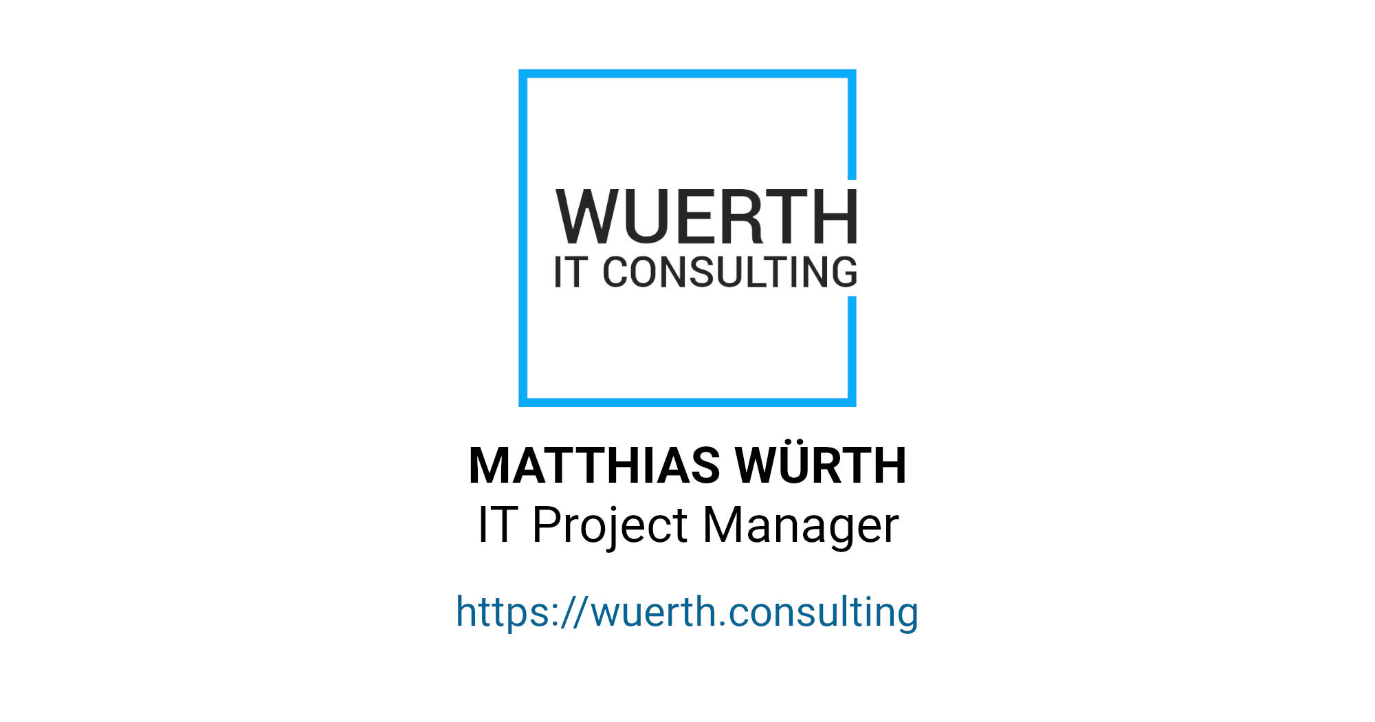 OpenGraph Image | Internationaler IT-Projektmanager | Würth Consulting